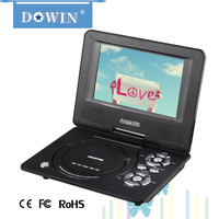 manufacture wholesale OEM 7 inch Portable DVD Player With TFT LCD TV and Card Reader / USB Port / Game Mobile VCD EVD Player