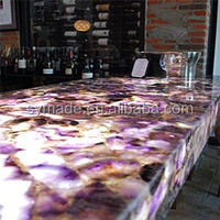 Amethyst marble bedroom set furniture for counter top wall and flooring marble furniture