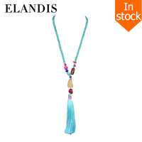 E-ELANDIS Latest design fashion necklace, beads necklaces, wooden beads necklace