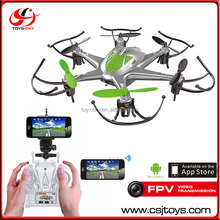 Smart phone And Remote control wifi hexacopter 6-axis 2.4G fpv rc drone with camera.