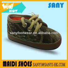 Newest Fashion Green Military Soft Baby Canvas Shoes Hot In China Factory