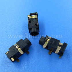 3.5mm dip through hole 4 pin gold-plated earphone socket