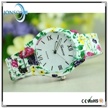 2015 New style fashion hot selling flower geneva watch 1ATM japanese top brand watches for women