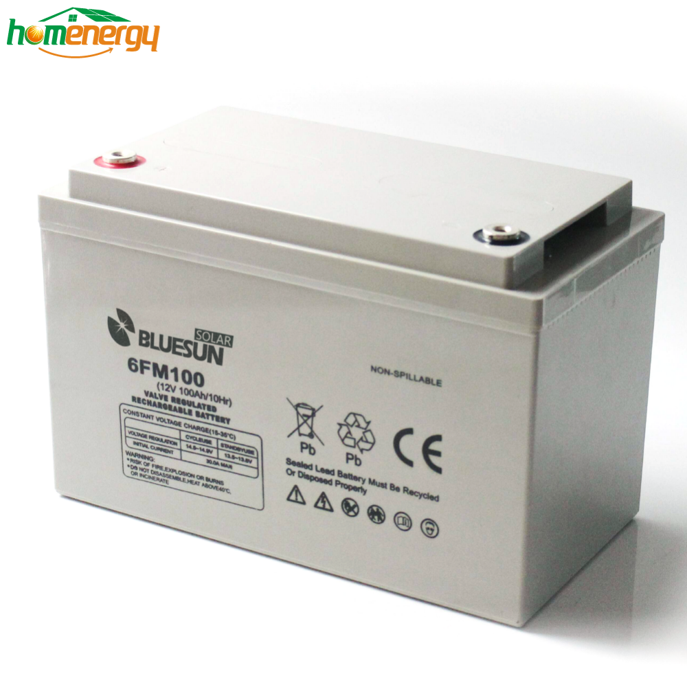Bluesun Lead Acid Battery GEL 12v 100ah Battery For Solar System Home