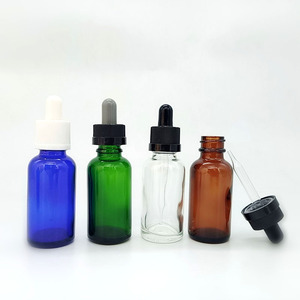 glass dropper bottle with screen printing 15ml 30ml 60ml 100ml clear /amber/ green/blue glass essential oil e liquid dropper