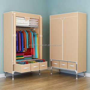 Huge size non-woven fabric wardrobe with cover