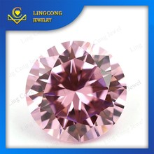 perfect round cut color 9mm cubic zirconia