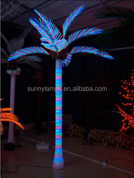 2015 hot sale fashionable style led palm tree light for holiday decoration, outdoor lighted palm tree
