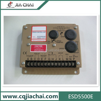 Generator speed control ESD5500E Genset Speed Governor
