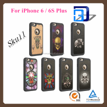 new products 2016 Skull Design hybrid Silicone + PC cell phone cover for iphone 6 6s case mobiles accessories