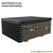 Custom Aluminum Fanless PC NUC Case mini itx S-TIX