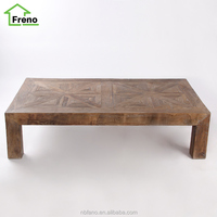 Solid Wood French Provincial Furniture Vintage Classic Coffee Table Rustic Wood French Country Coffee Table