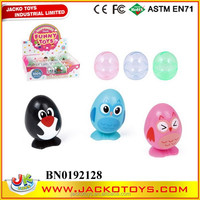 WIND UP BIRD,PENGUIN,CHICKEN 12PCS/BOX,THREE ASST,PLASTIC EGG CAPSULE TOY