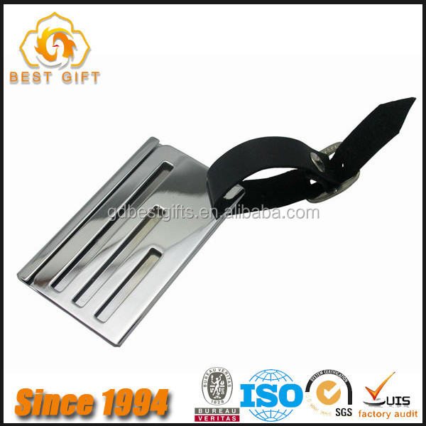 Round shape aluminum luggage tag