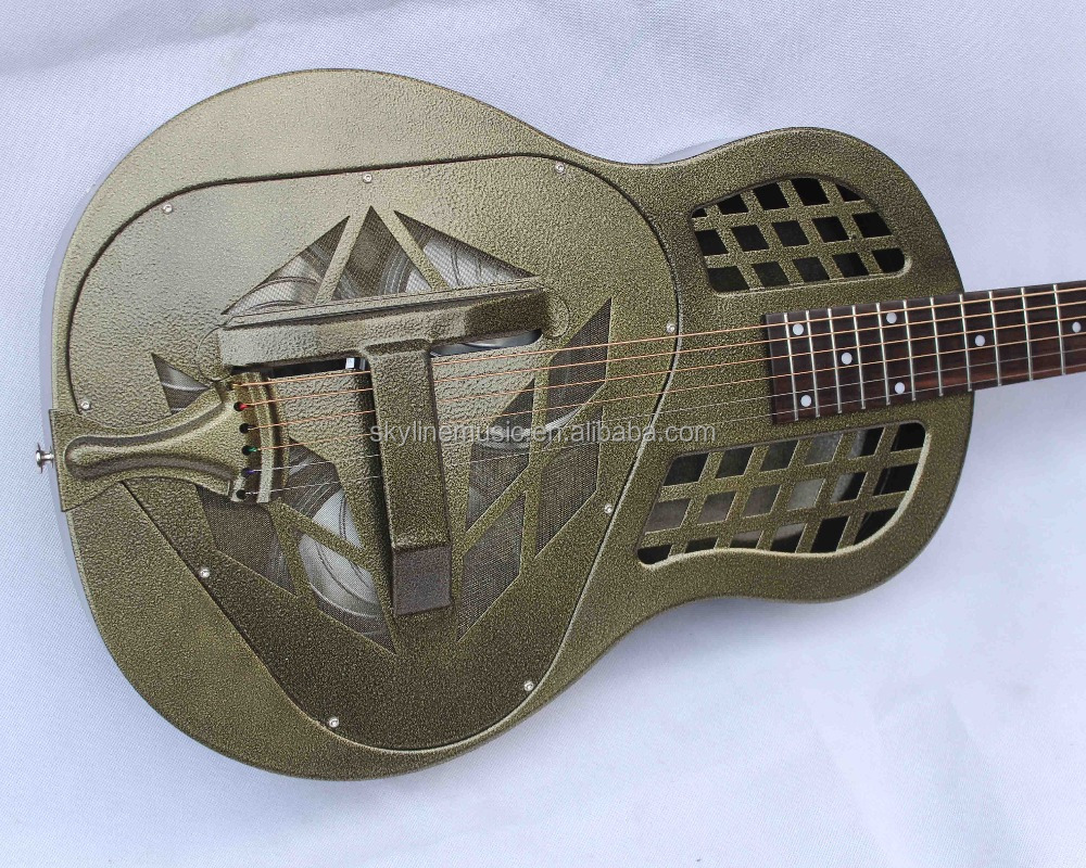 Jonathan resonator guitar, resophonic guitars, Metal Body Duolian Guitar own brand