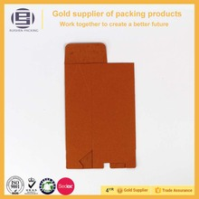 Hot selling folding orange cards die cut paper bag with window