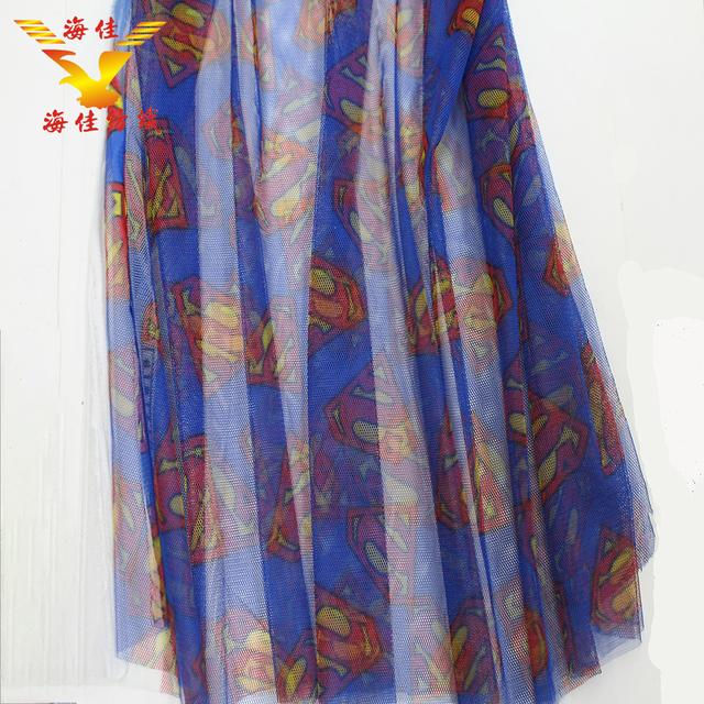 Simple fashion trend digital printed soft tulle mesh fabric