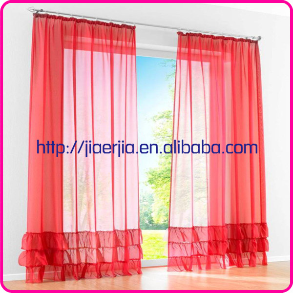 high quality classic pattern enthusiastic red sheer curtain
