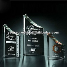 crystal shields and trophy with custom engraving