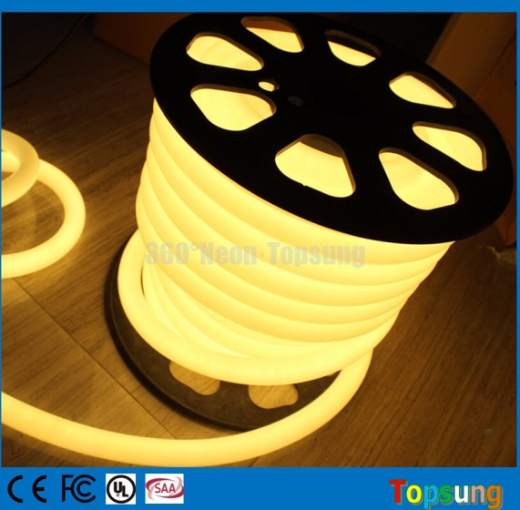 23/25mm 360 degree round neon flex lights IP65 220v DMX led lights