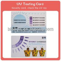 high quality spot UV printing plastic card pvc slot hole punch