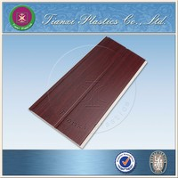 Red Sandalwood Textured Design with middle Groove Kitchen Accessories PVC Panel