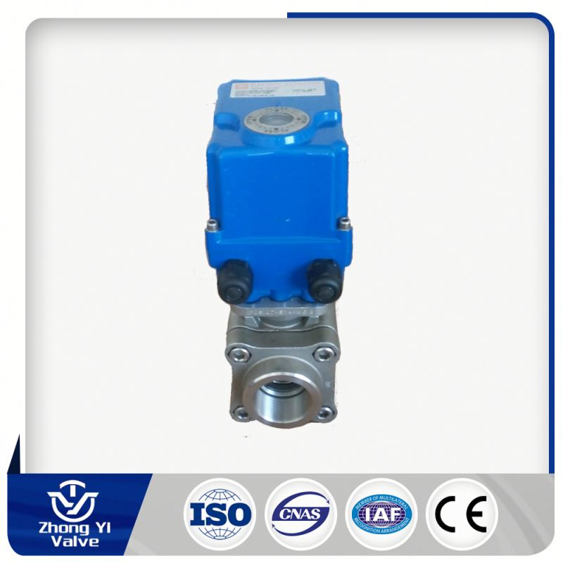 made in china electric actuator heating electric ball valve stainless steel