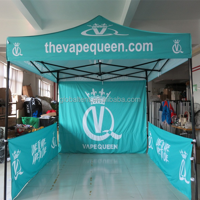 10x10 Quick up folding trade show event tent with custom print canopy and walls