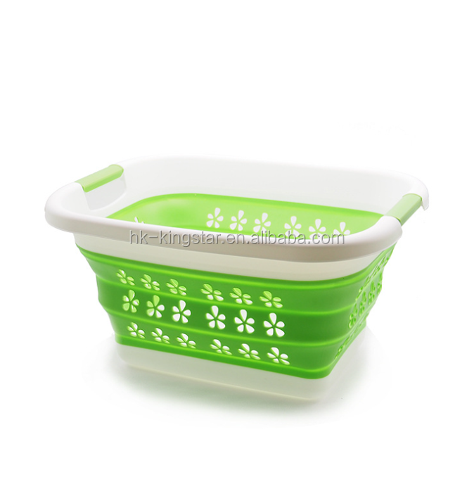 TPR Kids Foldable Laundry Basket Easy to Use and Carry Container