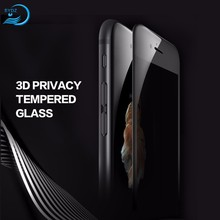 Wholesale Anti-scratch 3D Privacy Tempered Glass Screen Protector For iphone 7,For Iphone 8