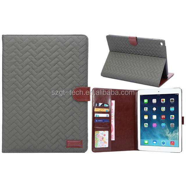 Retro Weave pattern tablet case for ipad air1/air 2 smart sleep stand tablet case with package for Apple ipad