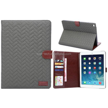 Retro Weave pattern tablet case for ipad air1/air 2,smart sleep stand tablet case with package for ipad 1/2/3/4/5/6