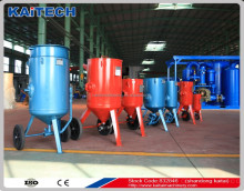 Industrial sandblasting pot portable sand blasting machine for rust removal