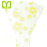 Customized Clear opp flower sleeve packaging bag/ floral wrap/ bouquet wrap single rose package