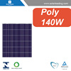CEC listed 140w price per watt solar panel with pv cables for pv solar panel system on grid