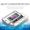 "2016 New Design PC+TPU waterproof/Shockproof with clear back Case Cover for Iphone 6S Plus 5.5"" Black"