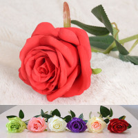 Wedding Decor Flowers Long Stem Artificial Silk Roses