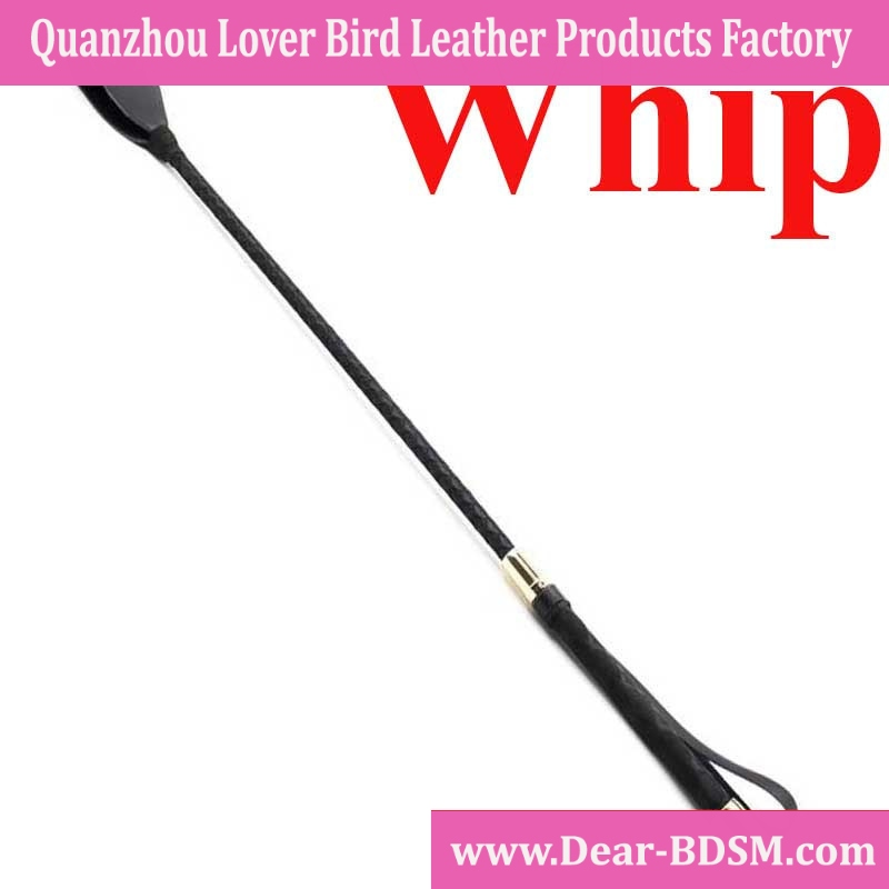 Delicate Whip Tune Pointer 60 cm Black PU Leather Paddle Cool Sex Toys For Flirting Adult Games