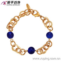 73067-xuping fashion indian copper latest big stone bead bracelets