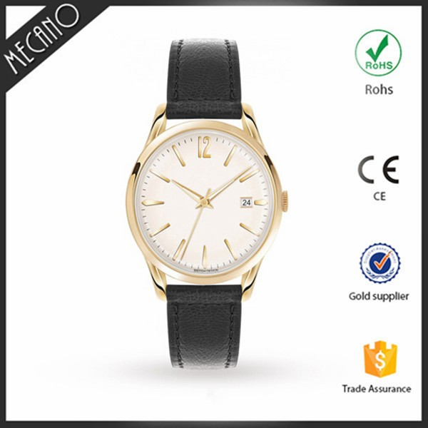 Hot selling 2016 rose gold stainless steel case watches you own branded logo customized watch wholesale