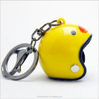 2017 new China hot selling items cute 3D soft pvc motorcycle helmet keyring for promotional gifts