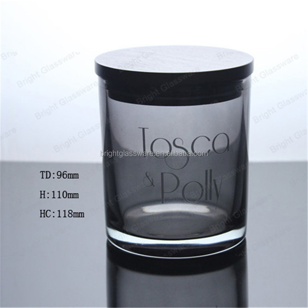 Factory OEM available wooden lid luxury crystal candle holder