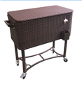Popular model rattan cooler box with bottle opener