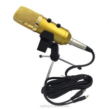 USB Condenser Microphone with Tripod Stand Wired Computer Microphone for Recoring