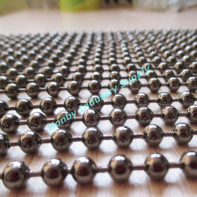 6mm gunmetal metal beads chains for room divider