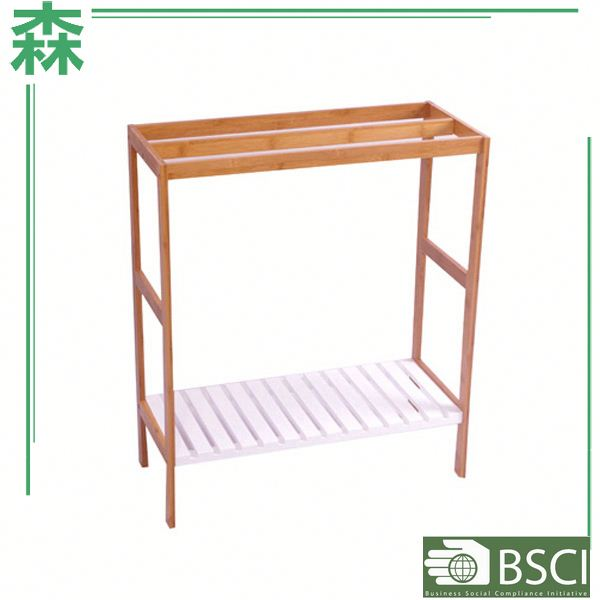 Yasen Houseware Freestanding Towel Rack,Beautiful Wooden Towel Rack,Single Towel Bar Towel Rack