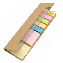 Oem customized 1c logo 16 cm x 5 cm kraft cover page marker sticky note with ruler