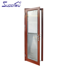 single door opening aluminium frame wooden main door design