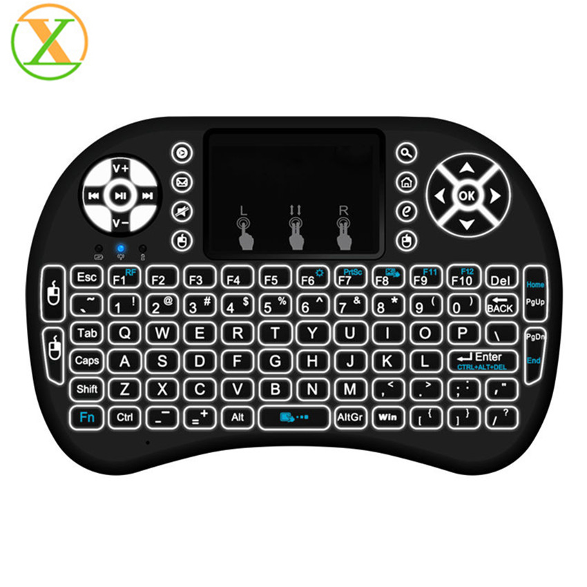 2017 new arrival i8 pro 2.4g mini wireless keyboard backlit android keyboard