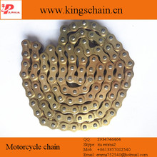 Chinese motor accessories Reinforced Gold 428H 132L motorcycle chain